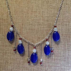 3pc Sapphire, Ruby and Moonstone Patriotic Set